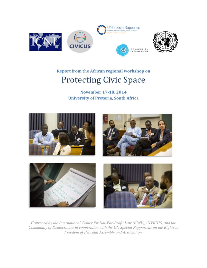 thumbnail of Africa Regional Workshop on Protecting Civic Space – Final Report
