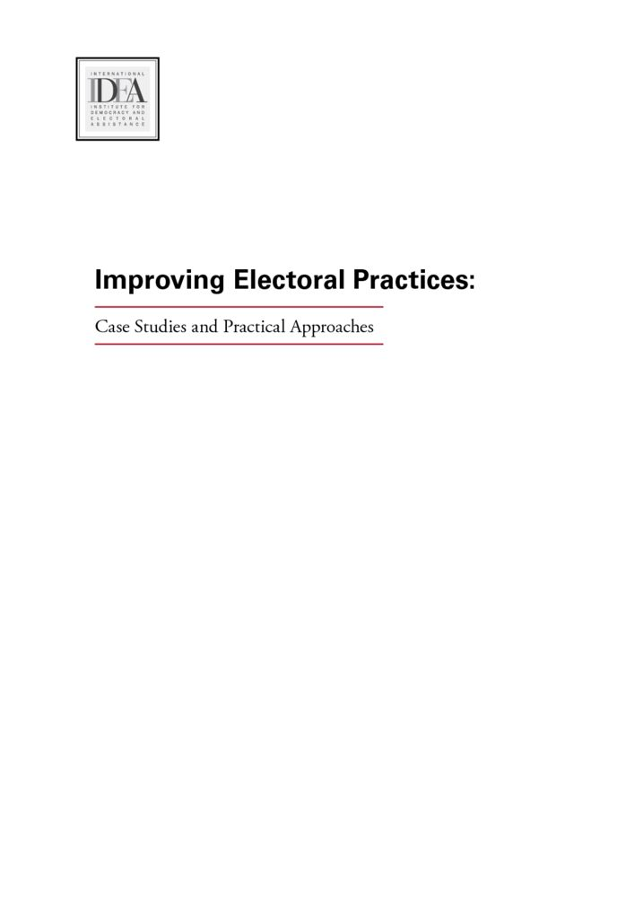 thumbnail of Improving-Electoral-Practices-Case-Studies-and-Practical-Approaches-PDF